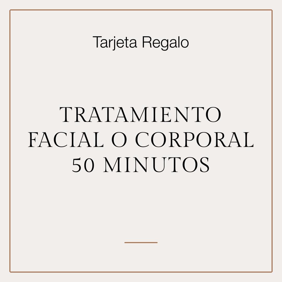 Tarjeta Regalo Tratamiento Facial o Corporal 50 min. 1