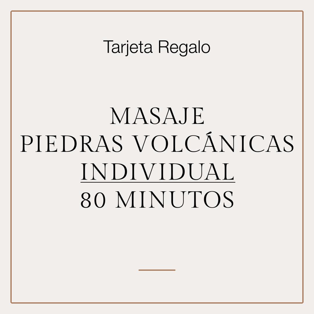 Tarjeta Regalo Masaje Piedras Volcánicas individual 1
